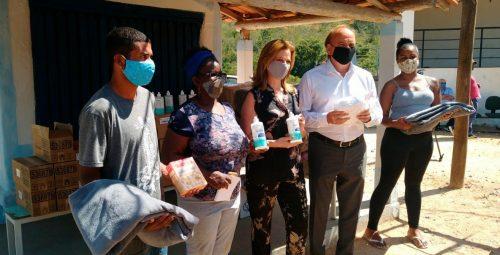 Testagem para Covid-19 e distribuição de itens de higiene para produtores rurais de comunidade quilombola